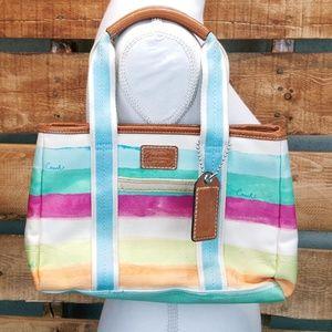 COACH Leather Handbag Purse Beautiful Pastel Cute!